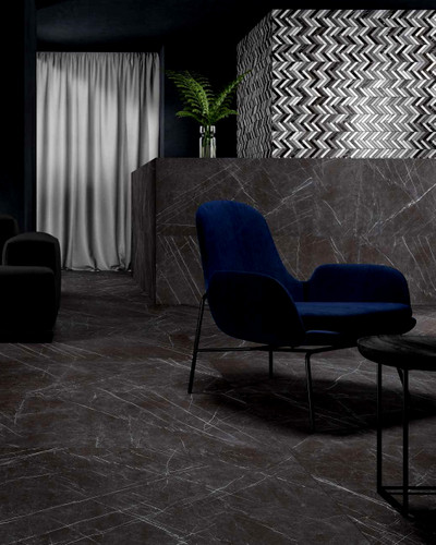 Floor Tile Peronda Museum Greystone Smoke Polished 90x90 cm