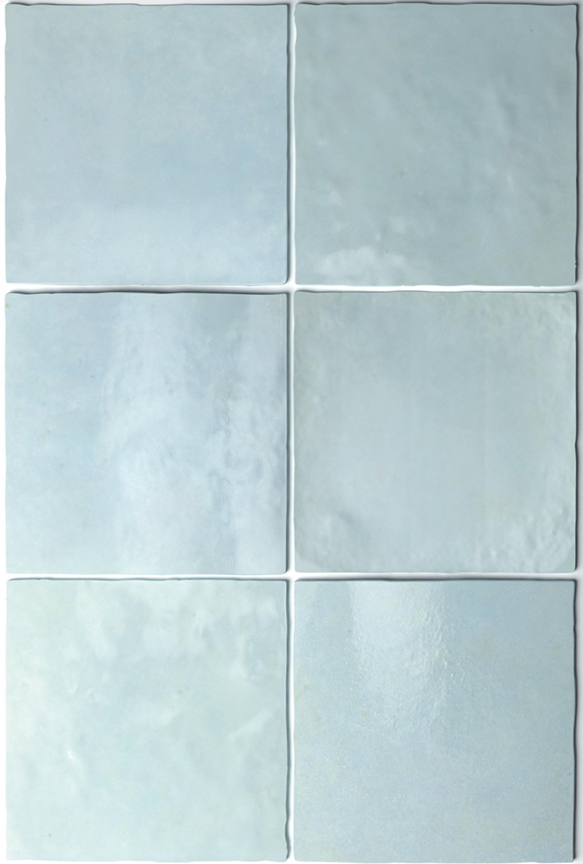 Wandfliese Artisan Aqua Equipe Retrofliese hellblau 13,2x13,2 cm – Bild 4