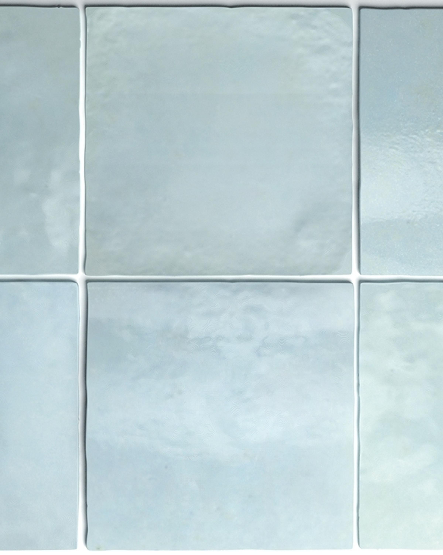 Wandfliese Artisan Aqua Equipe Retrofliese hellblau 13,2x13,2 cm – Bild 1