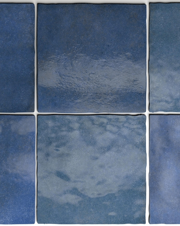 Wandfliese Artisan Colonial Blue Equipe Retrofliese Blau 13,2x13,2 cm – Bild 1