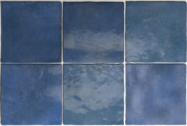 Wandfliese Artisan Colonial Blue Equipe Retrofliese Blau 13,2x13,2 cm– Bild 4