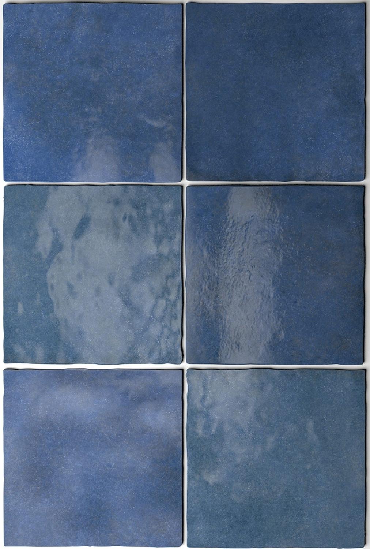 Wandfliese Artisan Colonial Blue Equipe Retrofliese Blau 13,2x13,2 cm– Bild 3