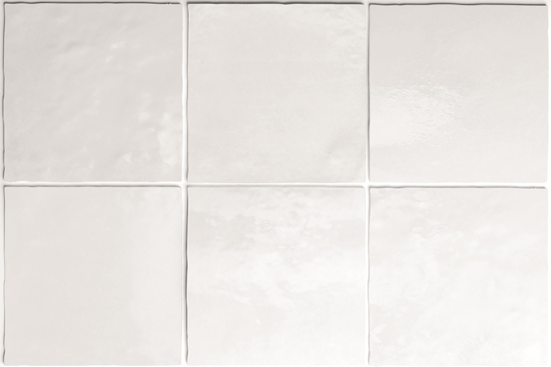 Wandfliese Artisan White Equipe Retro Tile Weiss 13,2x13,2 cm – Bild 5