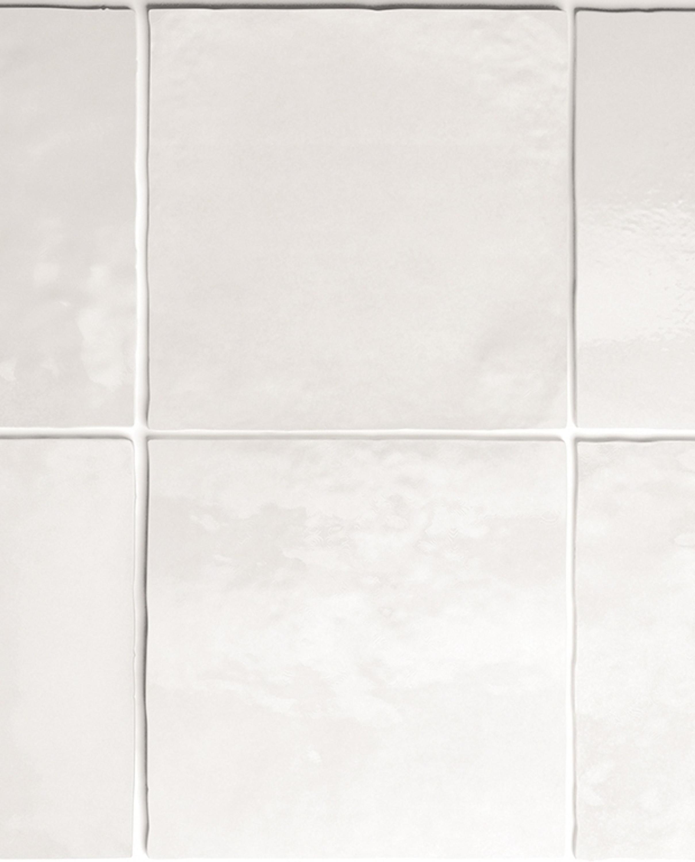 Wandfliese Artisan White Equipe Retro Tile Weiss 13,2x13,2 cm – Bild 1