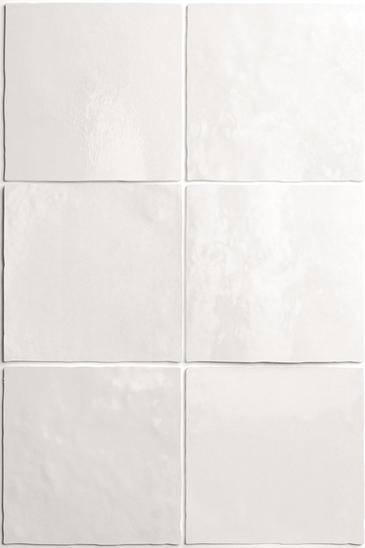 Wandfliese Artisan White Equipe Retro Tile Weiss 13,2x13,2 cm– Bild 4