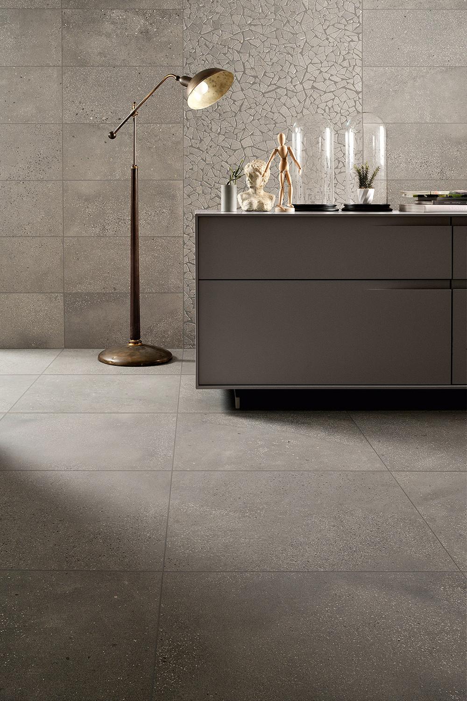 Floor Tile Fioranese I Cocci Cemento 0IC900R Terrazzo Tile Grey 90x90 cm