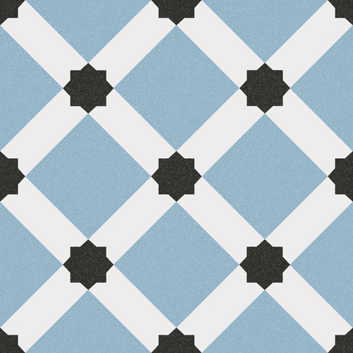 Concrete Tile Optic Blue PALAU CELESTE 20x20 cm
