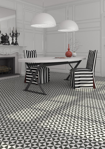 Concrete Tile Optic Black&White TERRADES GRAFITO 20x20 cm