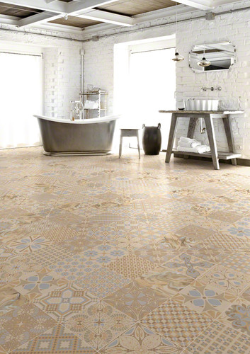 Concrete Tile Optic TASSEL CREMA Mix