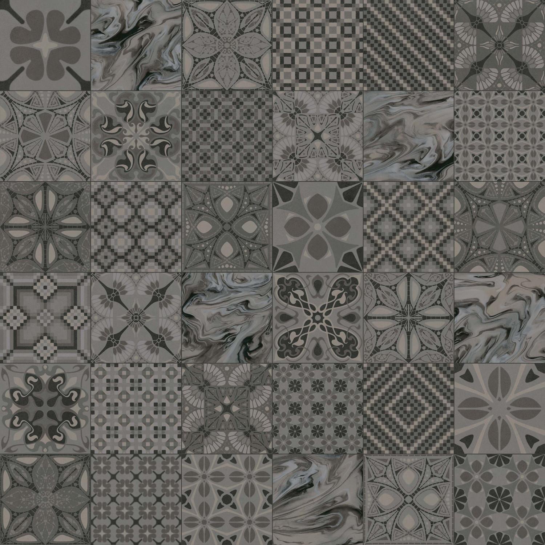 Zementfliesenoptik TASSEL GRAFITO Mix 20x20 cm        – Bild 3
