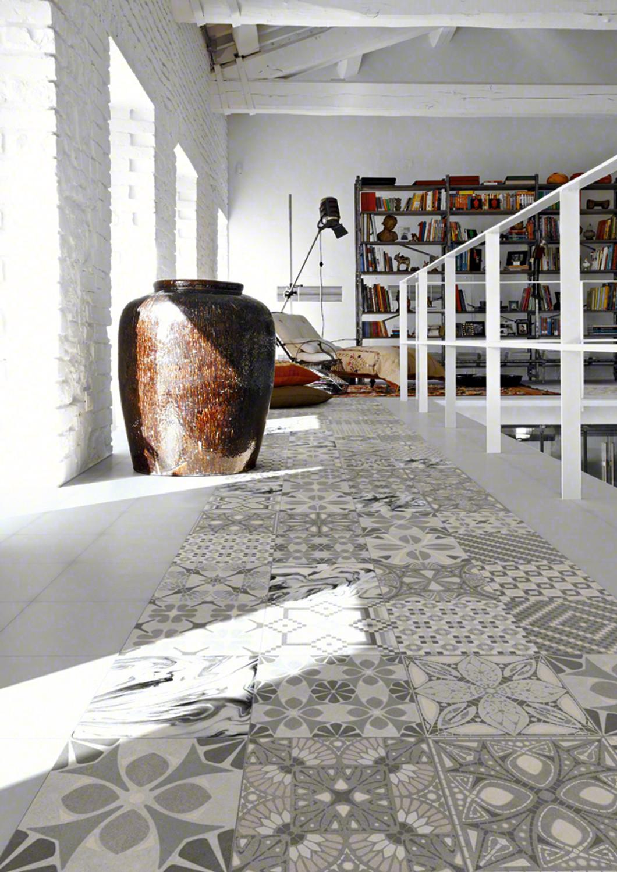 Concrete Tile Optic TASSEL PERLA Mix 20x20 cm
