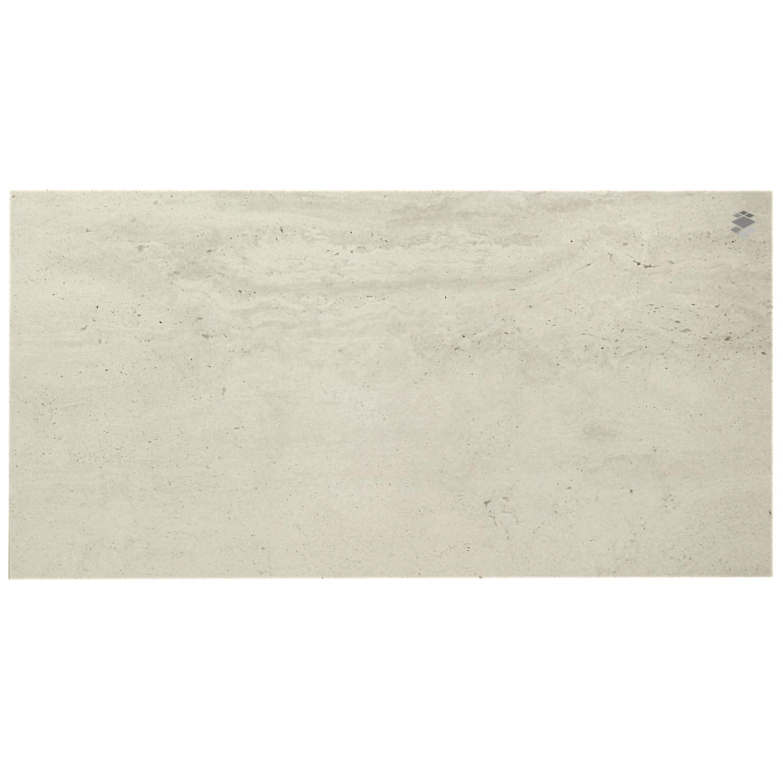 Bodenfliese Reverso White 45x90 teilpoliert
