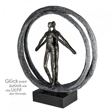 PAAR IM RING Skulptur DekoArt – Bild 1