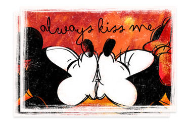 ALWAYS KISS ME Platzsets 2er Mickey & Minnie
