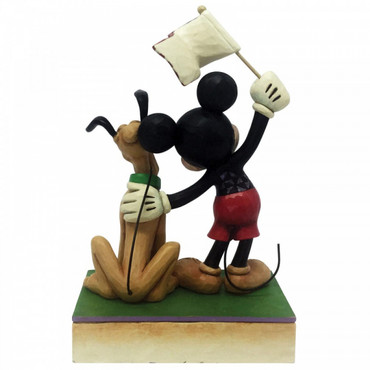 A BANNER DAY Mickey & Pluto Skulptur Jim Shore – Bild 2