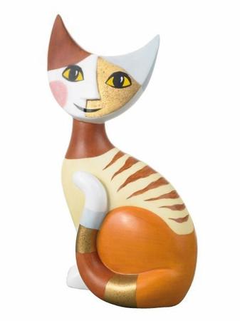"""ROSINA WACHTMEISTER """"Aurora"""" sitzendes Kätzchen aus GOEBEL - Porzellan"""