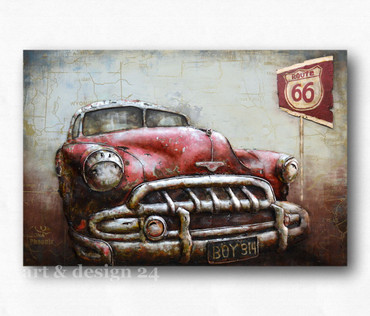"GILDE GALLERY - Metallkunst in 3D-Optik ""AMERICAN DREAM"" 120 x 80 cm - NEU !!"