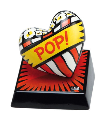 "BURTON MORRIS - POP ART - ""Love Pop! Red - Skulptur"" poppige Porzellan Skulptur"