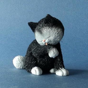 """ALBERT DUBOUT DUB64 - Les Chats de Dubout  """"Petite Toilette"""" Katzen Sammlerfigur"""