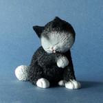 """ALBERT DUBOUT DUB64 - Les Chats de Dubout  """"Petite Toilette"""" Katzen Sammlerfigur 001"""