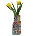 CAT A FLOWER Vase James Rizzi 001