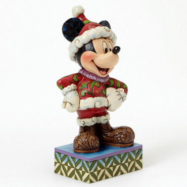 "DISNEY Skulptur ""MICKEY MOUSE - Merry Christmas"" Jim Shore Figur 4041806 NEU !!"