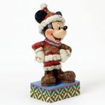 MERRY CHRISTMAS Mickey Mouse Skulptur Jim Shore 001