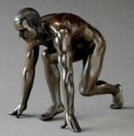 BODY TALK 75115 - man poses - Akt Skulptur - Athlet startend - Figur H 14.00 cm 001