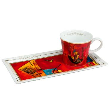 """GOEBEL PORZELLAN - Kunst & Kaffee - """"Wassily Kandinsky - Mit und Gegen"""" - NEU ! – Bild 1"""