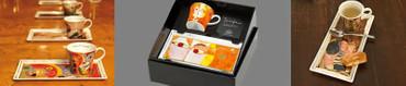"""GOEBEL PORZELLAN - Kunst & Kaffee - """"Carl Larsson - Britta mit Schlitten"""" - NEU! – Bild 3"""