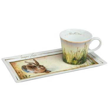 """GOEBEL PORZELLAN - Kunst & Kaffee - """"Albrecht Dürer - Junger Hase 1502"""" - NEU !"""
