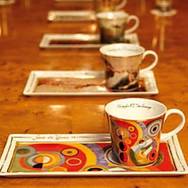 "GOEBEL PORZELLAN - Kunst & Kaffee - ""Charles Mackintosh - Zusammenkunft"" - NEU ! – Bild 2"