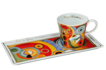 """GOEBEL PORZELLAN - Kunst & Kaffee - """"Robert Delaunay - Lebensfreude 1931"""" NEU !! – Bild 1"""