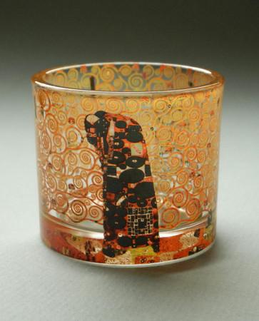 """MUSEUMS TEELICHTGLAS - """"Gustav Klimt - Die Erfüllung"""" - Teelichthalter - NEU !! – Bild 1"""
