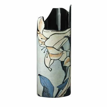 "MUSEUMSVASE - ""Katsushika Hokusai - Lilien"" - bildschöne Designer Vase - NEU !! – Bild 1"