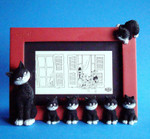 "ALBERT DUBOUT DUB40 - Les Chats de Dubout ""L'alignement-Cats in a row"" Fotoframe 001"