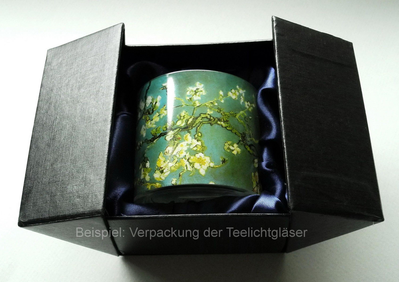 "Teelichthalter NEU! /""Michelangelo Erschaffung Adams/"" MUSEUMS TEELICHTGLAS"