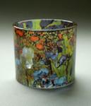 "MUSEUMS TEELICHTGLAS - ""Vincent van Gogh - Iris1889"" - Teelichthalter - NEU !! 001"