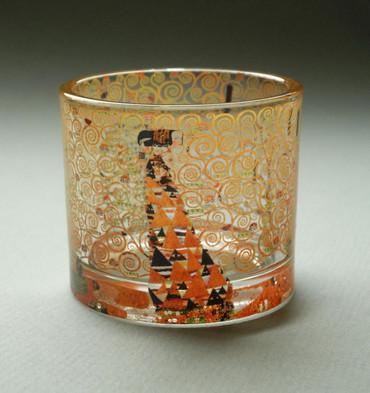"""MUSEUMS TEELICHTGLAS - """"Gustav Klimt - Die Erwartung"""" - Teelichthalter - NEU !! – Bild 1"""