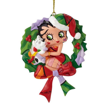 "ROMERO BRITTO - BETTY BOOP ""CHRISTMAS HANGING ORNAMENT"" Figur 4046449 NEU !! – Bild 1"