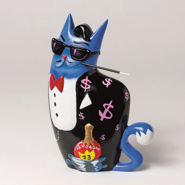 "SELWYN SENATORI - Senatori Town Collection Skulptur ""Big City Cat Blue - Dean""  – Bild 1"