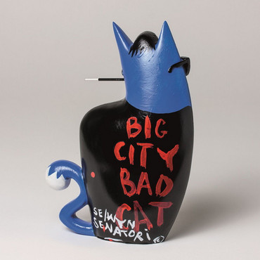 "SELWYN SENATORI - Senatori Town Collection Skulptur ""Big City Cat Blue - Dean""  – Bild 2"