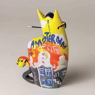 "SELWYN SENATORI - Senatori Town Collection Skulptur ""Big City Cat Yellow ZATTI""  – Bild 2"