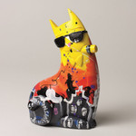 "SELWYN SENATORI - Senatori Town Collection Skulptur ""Big City Cat Yellow BRUNO""  001"