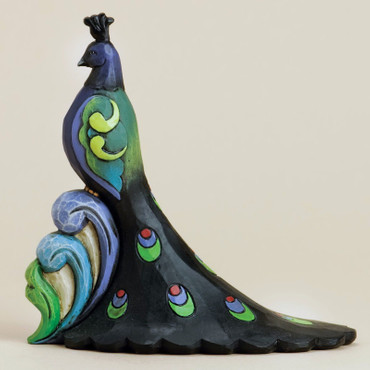 "HEARTWOOD CREEK Skulptur - ""MINI PEACOCK - PFAU"" - Jim Shore Figur 4031232 NEU!! – Bild 1"