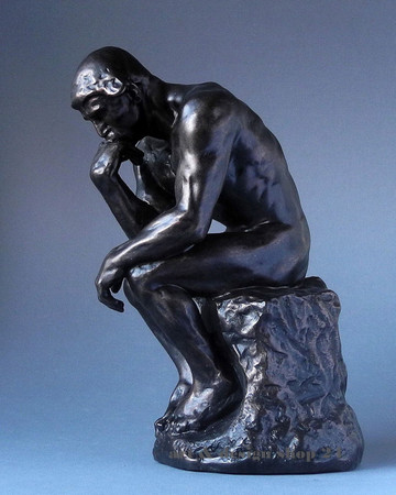 Le Penseur - Der Denker -L- AUGUSTE RODIN Skulptur RO06