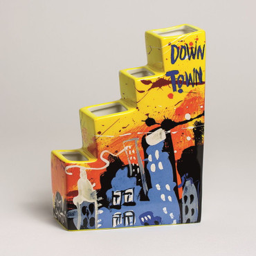 "SELWYN SENATORI - Senatori Town Collection - ""Skyline Downtown"" - Pop Art Vase – Bild 1"