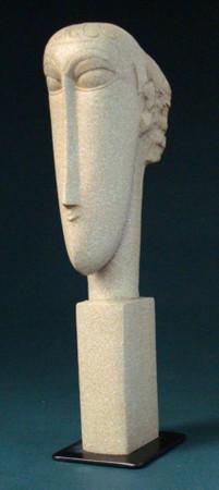 Têtes -M- AMADEO MODIGLIANI Skulptur MO06