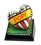 "BURTON MORRIS - POP ART  ""Love Pop! Green - Skulptur"" poppige Porzellan Skulptur 001"