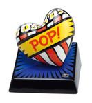 "BURTON MORRIS - POP ART - ""Love Pop! Blue - Skulptur"" poppige Porzellan Skulptur 001"